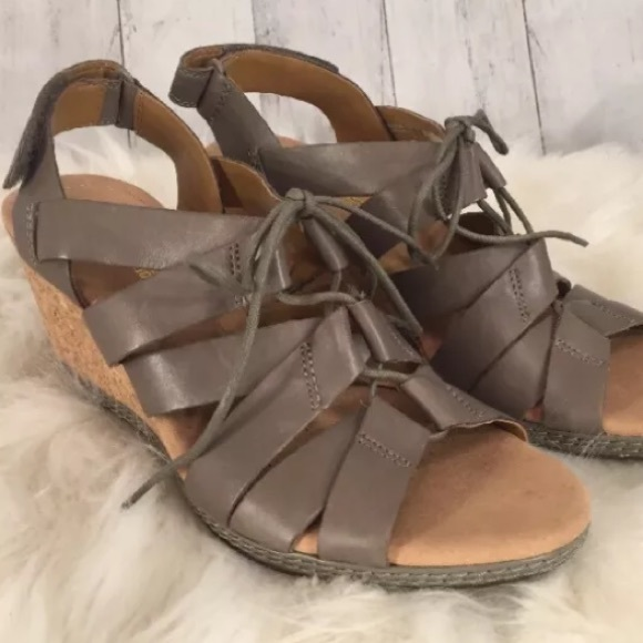 4dff51fdb4b Clarks Shoes - Clarks Collection Wedge Sandal Helio Mindin 8